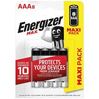 Energizer MAX E92 AAA Batteries (Pack of 8)
