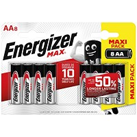 Energizer MAX E91 AA Batteries (Pack of 8)