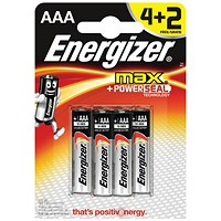 Energizer MAX E92 AAA Batteries (Pack of 6)