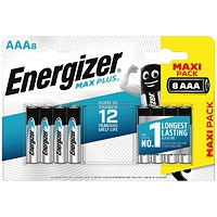 Energizer Max Plus AAA Batteries (Pack of 8)