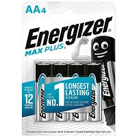 Energizer Max Plus AA Batteries (Pack of 4)