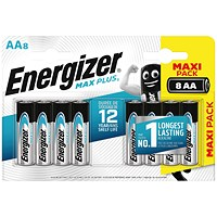 Energizer Max Plus AA Batteries (Pack of 8)