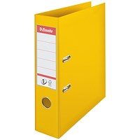 Esselte No1 Lever Arch File Slotted 75mm A4 Yellow (Pack of 10)
