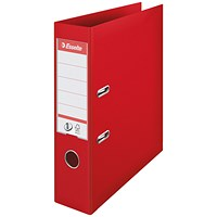Esselte No 1 Lever Arch File Slotted 75mm A4 Red (Pack of 10)