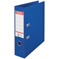 Esselte No 1 Lever Arch File Slotted 75mm A4 Blue (Pack of 10)