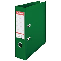 Esselte No 1 Lever Arch File Slotted 75mm A4 Green (Pack of 10)