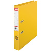 Esselte No1 Plastic Lever Arch File 50mm A4 Yellow (Pack of 10)