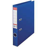 Esselte No 1 Plastic Lever Arch File 50mm A4 Blue (Pack of 10)