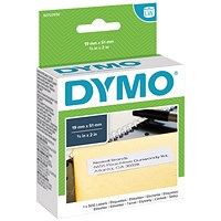Dymo LabelWriter Labels, Multipurpose, 19x51mm, White, Pack of 500, Ref 11355 S0722550