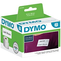 Dymo LabelWriter Labels Name Badge 41x89mm White Ref 11356 S0722560 [Pack 300]