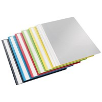 Esselte A4 Plastic Report Files / Assorted / Pack of 25