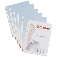 Esselte A4 Standard Plastic Pockets - Pack of 100