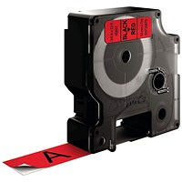 Dymo D1 Label Tape 19mm x 7m Black on Red ES45807