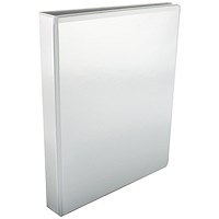 Esselte Presentation Binder, A4, 4 D-Ring, 25mm Capacity, White