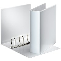 Esselte Presentation Binder, A4, 4 D-Ring, 60mm Capacity, White