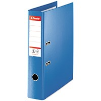 Esselte No. 1 Power Foolscap Lever Arch Files, 75mm Spine, Blue, Pack of 10