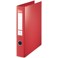 Esselte Maxi Ring Binder, A4, 4 D-Ring, 40mm Capacity, Red