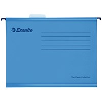 Esselte Classic Suspension Files, A4, Blue, Pack of 25