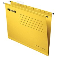 Esselte Classic Suspension Files, A4, Yellow, Pack of 25