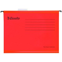 Esselte Classic Suspension Files, A4, Red, Pack of 25