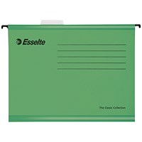 Esselte Classic Suspension Files, A4, Green, Pack of 25