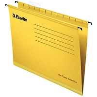 Esselte Classic Foolscap Yellow Suspension File (Pack of 25)