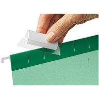 Esselte Classic Plastic Tabs & Card Inserts, 6cm, Pack of 25