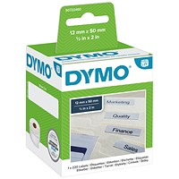 Dymo LabelWriter Labels Suspension File 12x50mm White Ref 99017 S0722460 [Pack 220]
