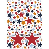 Star Print Gift Wrap and Tags (Pack of 12)