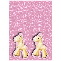 Pink Baby Giraffe Gift Wrap and Tags (Pack of 12)