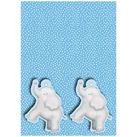 Blue Baby Elephant Gift Wrap and Tags (Pack of 12)