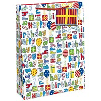 Happy Birthday Gift Bag Large (Pack of 6)