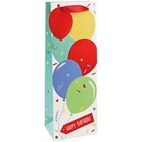 Happy Birthday Balloon Bottle Bag (Pack of 6)