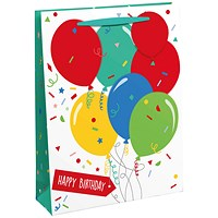 Happy Birthday Balloon Gift Bag Large (Pack of 6)