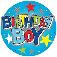 Birthday Boy Giant Badge (Pack of 6)