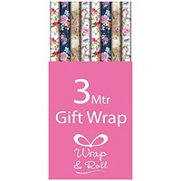 Assorted Floral Gift Wrap (Pack of 39)