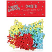 Happy Birthday Paper Table Confetti (Pack of 12)