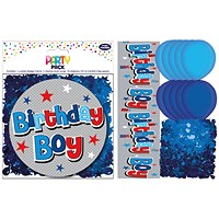 Birthday Boy Party Pack Blue (Pack of 6)