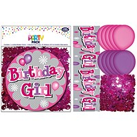 Birthday Girl Party Pack Pink (Pack of 6)