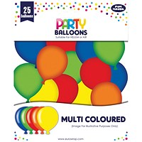 Party Balloons Multicoloured (Pack of 6)