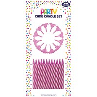 Cake Candle Set Pink (Pack of 6)