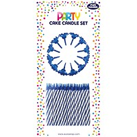 Cake Candle Set Blue (Pack of 6)