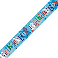 Birthday Boy Banner Blue (Pack of 6)