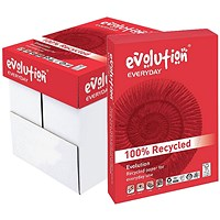 Evolution Everyday A4 Recycled Paper White, 80gsm, Box (5 x 500 Sheets)