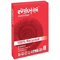 Evolution Everyday A3 Recycled Paper, White, 80gsm, Ream (500 Sheets)