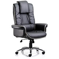 Chelsea Leather Executive Chair, Black, Built