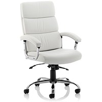 Desire Executive Leather Chair, White, Built