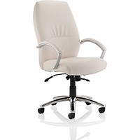 Dune High Back Leather Executive Chair - White