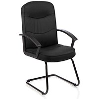 Harley Cantilever Visitor Chair, Black, Built