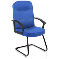Harley Cantilever Visitor Chair, Blue, Built